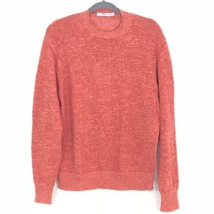 Inis Meáin Coral 100% Linen Ireland Crew Sweater L
